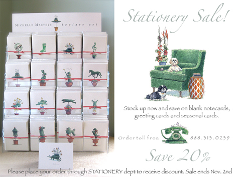 stationery sale michelle masters topiary art