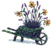 Wheelbarrow Topiary