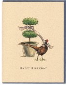Birthday- Topiary & Pheasant