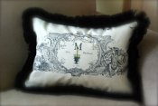French Toile Custom Wedding Pillow