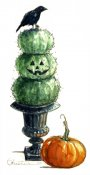 Halloween Topiary & Crow